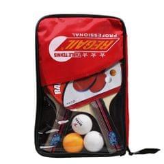 Rubber Ping Pong Paddle Set Table Tennis Racket Kit - Horizontal