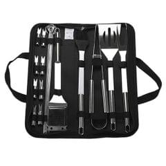BBQ Grill Tools Set Heavy Duty Stainless Steel Barbecue - 20 pcs