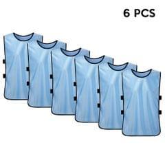 6 PCS Adults Soccer Pinnies Quick Drying Football Jerseys
