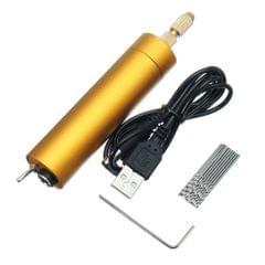 5V DC Mini Aluminum Electric Motor Hand Drill + 10Pcs Twist