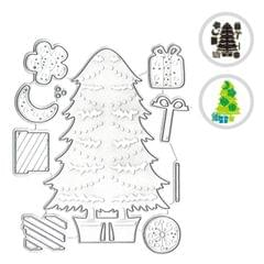 Christmas Metal Cutting Dies Xmas Tree Shoe Hats Shape - Xmas Tree