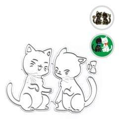 Christmas Metal Cutting Dies Xmas Tree Cute Cats Shape - Cat