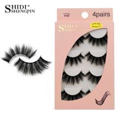 Anself SHIDISHANGPIN 4 Pairs 3D Fake Eyelashes False - G106