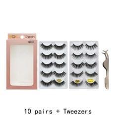Anself 10 Pairs False Eyelashes 3D Reusable Handmade Fake