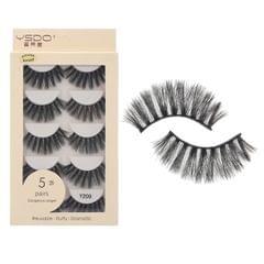 Anself 5 Pairs 3D Fake Eyelashes False Eyelashes Handamde - Y209