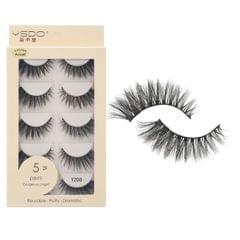 Anself 5 Pairs 3D Fake Eyelashes False Eyelashes Handamde - Y208