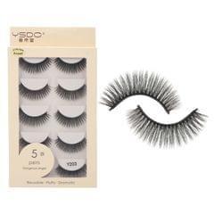 Anself 5 Pairs 3D Fake Eyelashes False Eyelashes Handamde - Y203