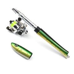 Portable Pen Fishing Rod Mini Pocket Fishing Rod with - Fibreglass 1.6m