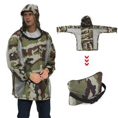 Breathable Bug Jacket with Zippered Hood Mosquito Repellent - XXL