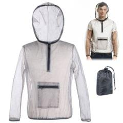 Outdoor Ultralight Mesh Hooded Bug Jacket Anti-mosquito See - XXXL