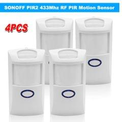 4PCS SONOFF PIR2 Wireless Dual Infrared Detector 433Mhz RF - 4PCS