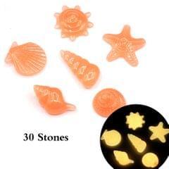 30pcs/Bag DIY Home Decor Luminous Sea Conch Shell Starfish