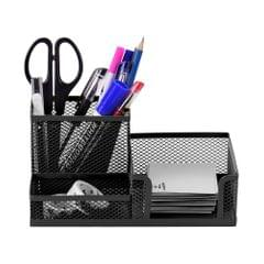 3 Storage Multi-functional Desk Organizer Mesh Metal Pen