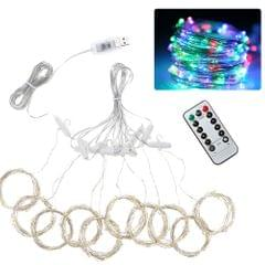300pcs led Curtain Icicle String Lights Remote Control - Type 2