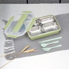 304 Stainless Steel Lunch Box 4-Grid Microwave Leakproof - 4 Grid