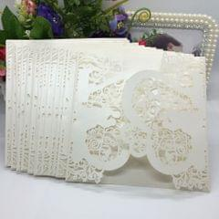 20Pcs Romantic Wedding Party Invitation Card Delicate Carved - 1