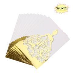 20pcs/set Wedding Invitation Cards Pearl Paper Laser Cut - Pack of 20