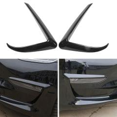 2Pcs Black Front Foglight Eyebrow Eyelids Cover Trim Fit For