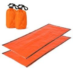 2 PCS Emergency Blanket with Compression Sack Portable