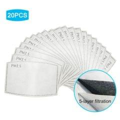 20Pcs Disposable Mouth Mask Replace Inner Pads Breathable - 2