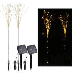 2 Pack Solar Fireworks Tree Lights With Light Sensor