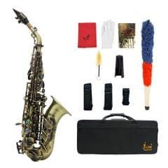 Vintage Style Bb Soprano Saxophone Sax Brass Material