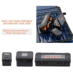 1/10 RC Car Safety Equipment Case 3pcs Decorative Tool Box