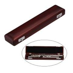 Wooden Flute Case Box Holder Maple Solid Wood for 17-Hole