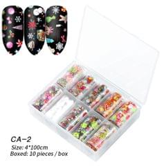 Box of 10 Rolls Transfer Watermark Nail Stickers for - CA-02