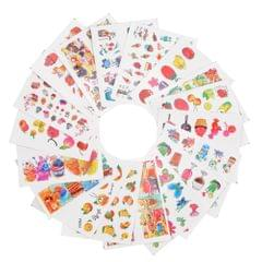 18 Sheets Nail Sticker Set Mixed Butterfly Flower Pattern