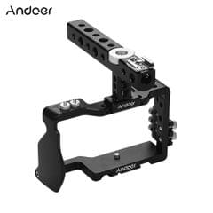 Andoer Camera Cage & Top handle & Cable Clamp Film Movie - Camera Cage & Top Handle