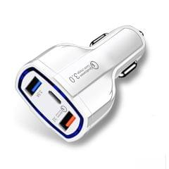 Quick Car Charger With 2 USB Ports Type-C Fast Charging