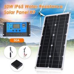 50W D C 9V/18V Flexible Solar Panel with 50A L-ED Display - Solar Panel Kit with 50A Controller