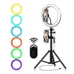 10.2 Inch Dimmable 184 LEDs RGB & 2700-6500K Photography