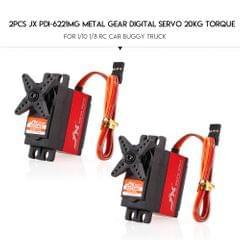 2pcs JX PDI-6221MG Metal Gear Digital Servo 20kg Torque - 2pcs