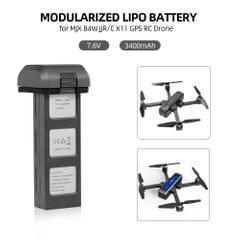 Lipo Battery 7.6V 3400mAh Modularized Drone Battery for MJX