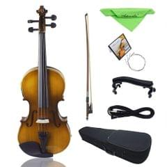 4/4 Full Size Acoustic EQ Electric Violin Fiddle Kit Solid