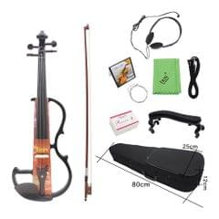 Full Size 4/4 Electric Violin Fiddle Maple Wood Stringed
