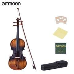ammoon 3/4 Size Violin Matte-Antique Spruce Top Jujube Wood - 0.75