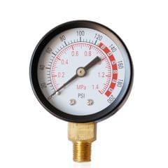 "2"" Dial Hydraulic Fluid  Pressure Gauge Meter Double Scale - TS-Y50-1.4mpa"