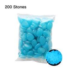 200pcs/Bag Luminous Pebbles Glow in the Dark Stones Home - 7