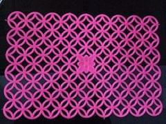 Prime  Set of 6 PVC Fridge Mats 12X17 Inches (Pink)
