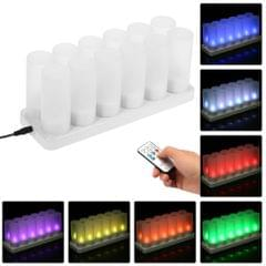 Set of 12 Rechargeable LED Color Changing Flickering - 12-Pack & UK Plug