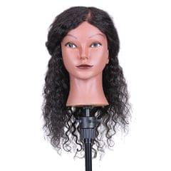 Curly Hair Mannequin Head Hairdressing Training Head for