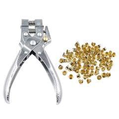 Eyelet Punch 2-in-1 Eyelet Grommet Pliers Steel Hole Punch