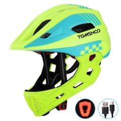TOMSHOOH Kid Bike Full Face Helmet Children Safety Riding