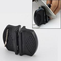 Butterfly Type Portable Mini Kitchen Knife Sharpener Camping Pocket Knife Sharpener (Black)
