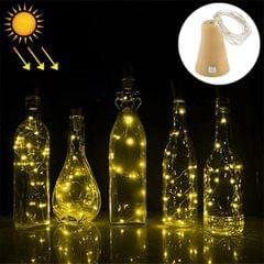 1m 10 LEDs SMD 0603 Solar Powered Copper Wire String Light  Fairy Lamp Decorative Light (Warm White)