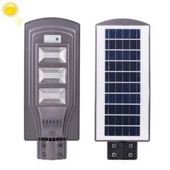 60W IP65 Waterproof Radar Sensor + Light Control Solar Power Street Light, 120 LEDs Energy Saving Outdoor Lamp with 6V / 20W Solar Panel