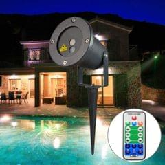 5W 12 in 1 Patterns Projecting Lamp, GODF-12RG water resistant Outdoor Lawn Yard Garden Decorative Laser Projector Lamp with Remote Controller
